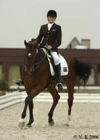 Nicole Kullen riding 'Nikshar Nomination' as part of the Australia Team at the CPDI4* in Belgium.